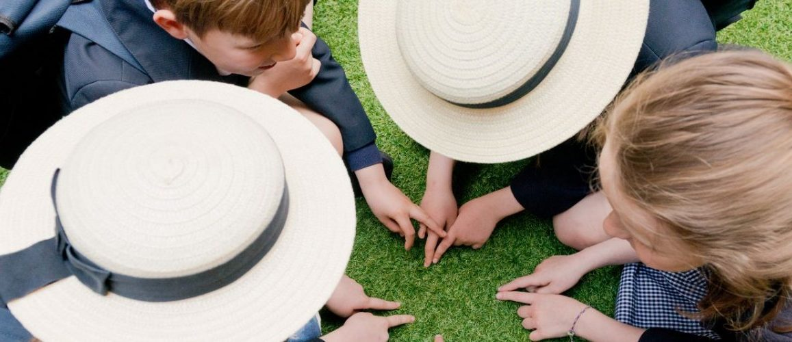 Children playing a game with their fingers